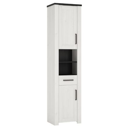Provence Tall narrow cabinet 2 door 1 drawer